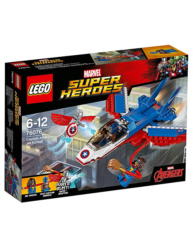Image of LEGO Marvel Captain America Jet Pursuit