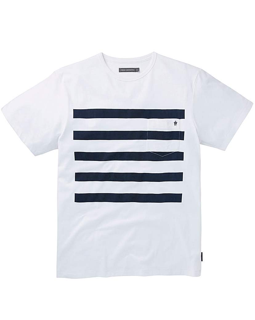 Image of French Connection Stripe T-Shirt