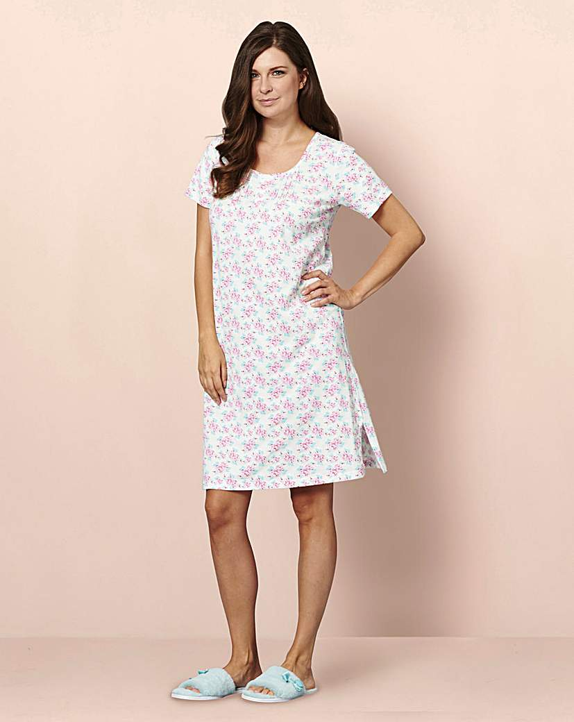 Cotton Jersey Nightie 2 Pack 44 inch.