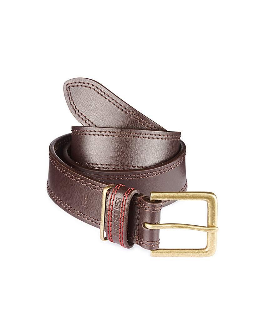 Image of Ben Sherman Camden Contrast Stitch Belt
