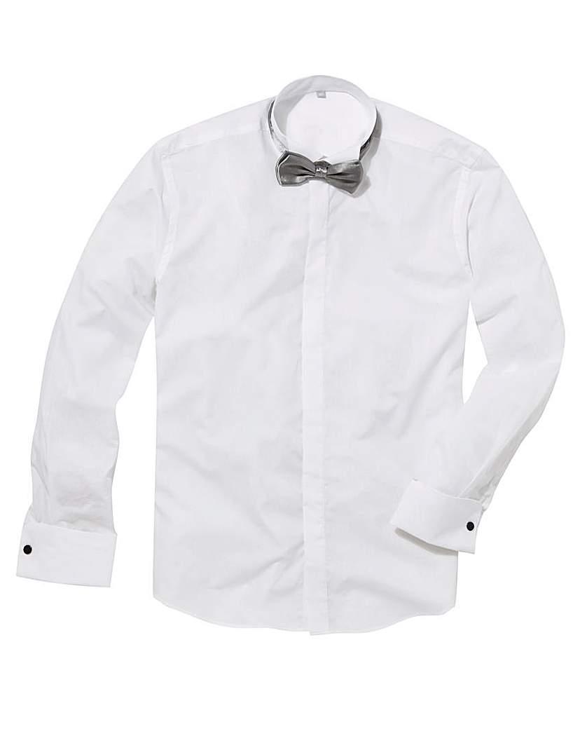 Image of Black Label Wing Collar Dinner Shirt L