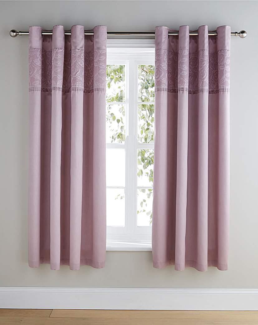 Image of Aubrey Embellished Eyelet Lined Curtains