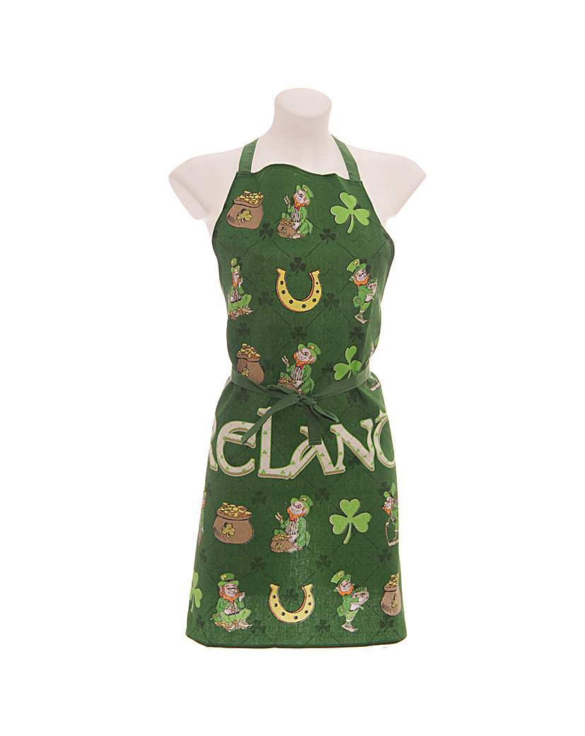 Image of Funky Ireland Leprechaun Cotton Apron