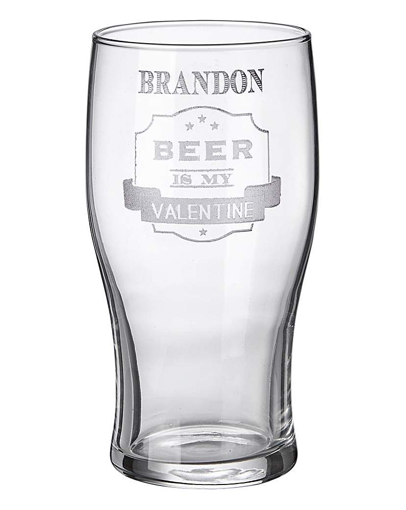 Image of Beer is My Valentine Tulip Pint Glass