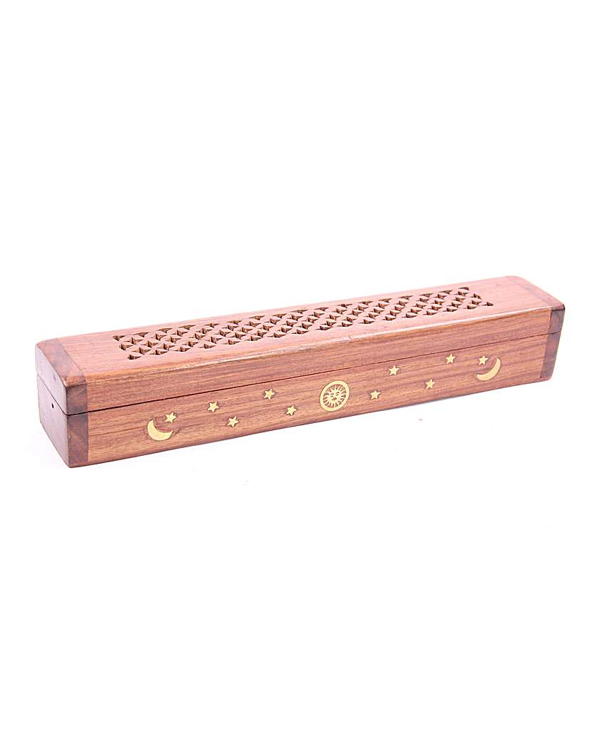 Decorative Sheesham Wood Box Stars