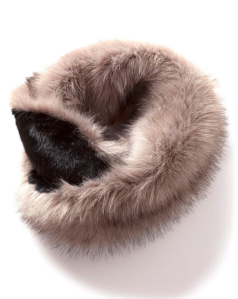 Two Tone Faux Fur Snood