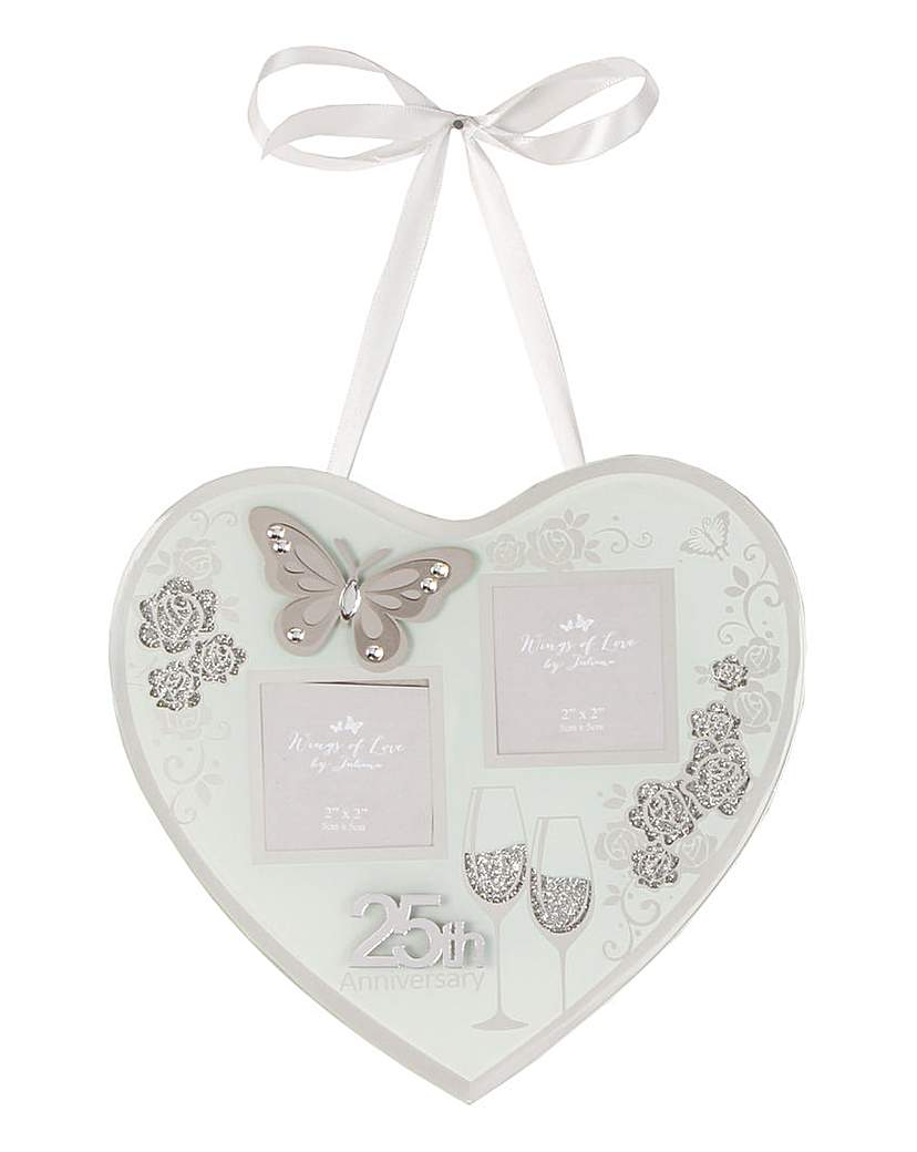 Image of Anniversary Hanging Heart Photo Frame