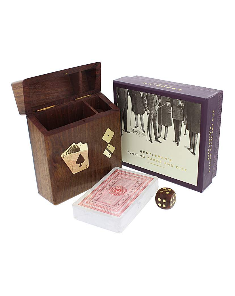 Image of Emporium Playing Cards and Dice in Woode