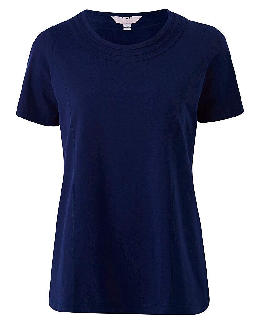 Plain Jersey Top with Neck Detail.