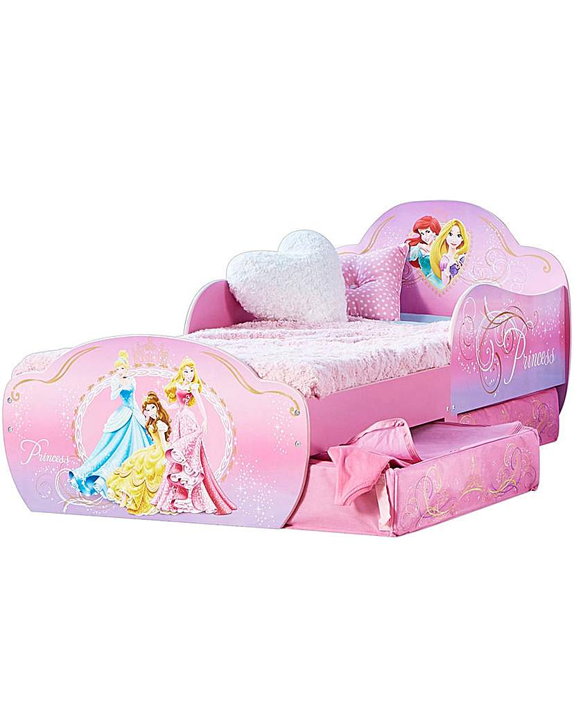 Image of Disney Princess Toddler Bed with Storage