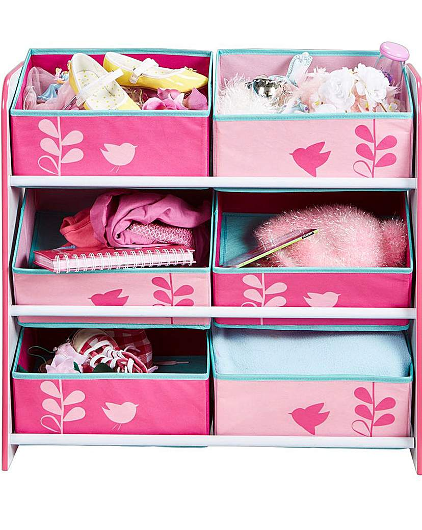 Image of Flowers and Birds Kids Storage Unit