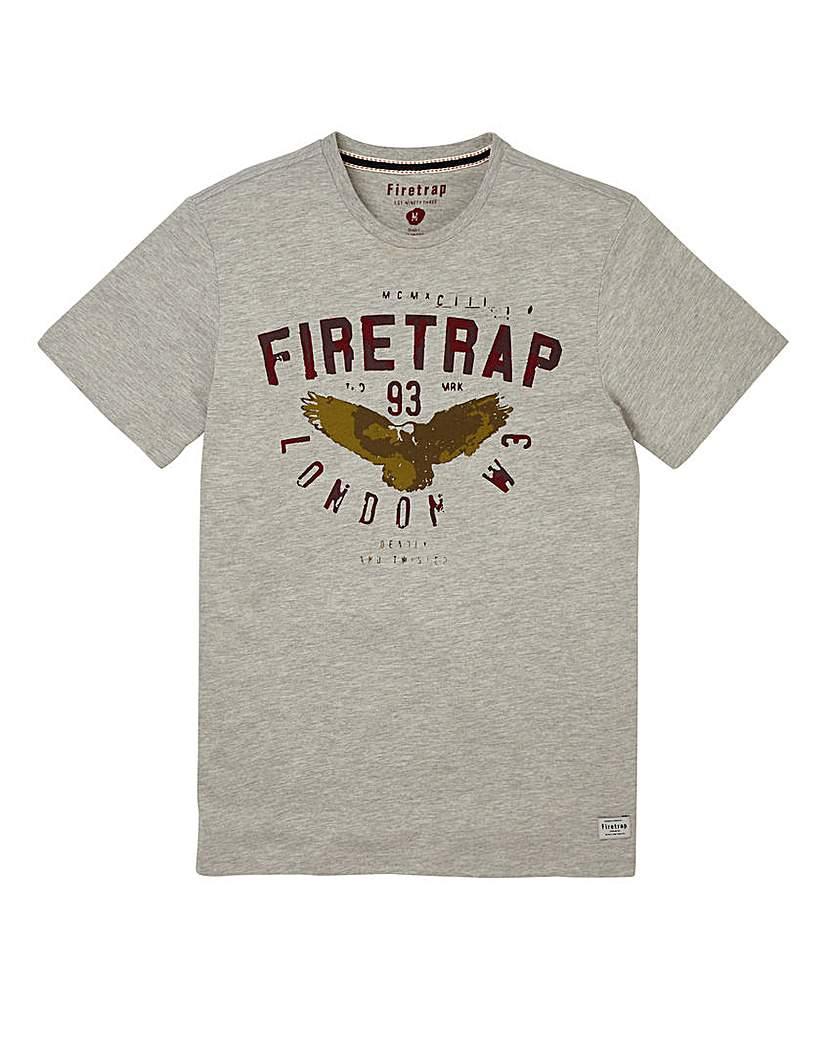 Firetrap Grey Hans T-Shirt Regular