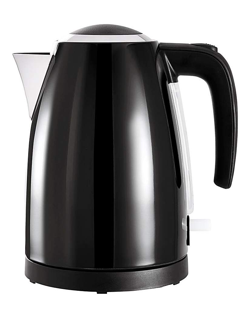 JDW 1.7Litre Rapid Boil Black Kettle
