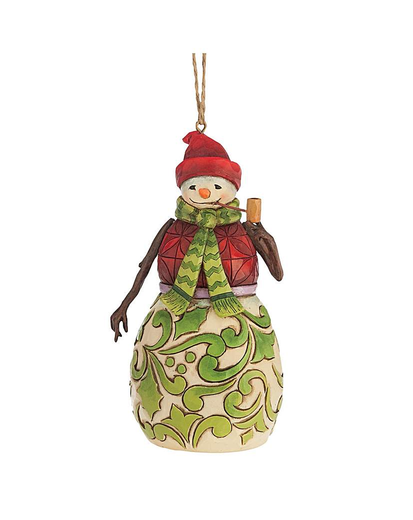 Image of Heartwood Creek Red & Green Snowman