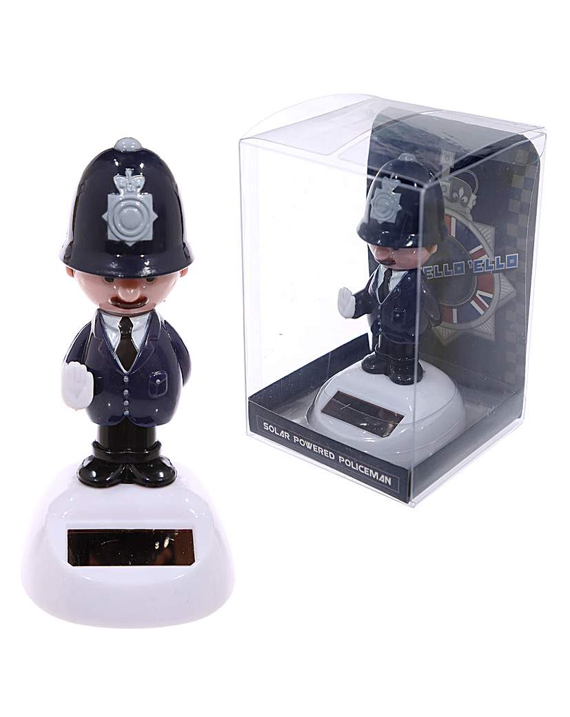 Novelty Solar Collectable - Policeman