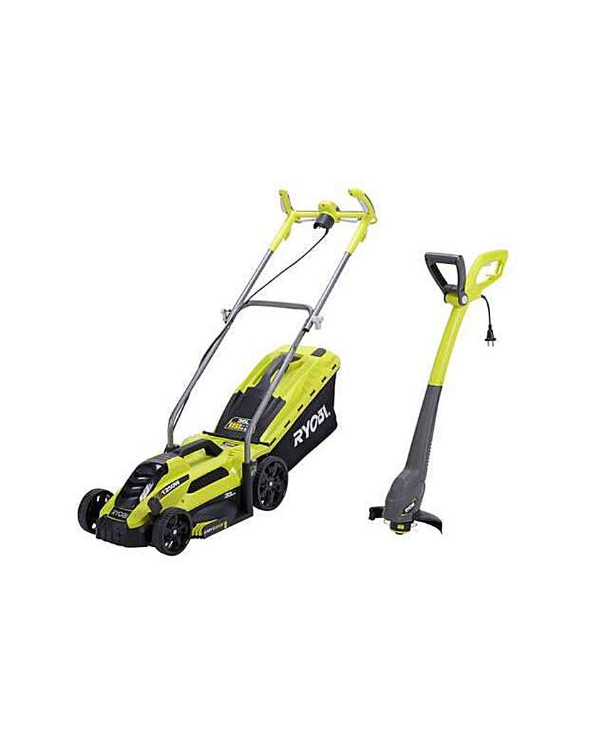 Corded Lawnmower and Grass Trimmer