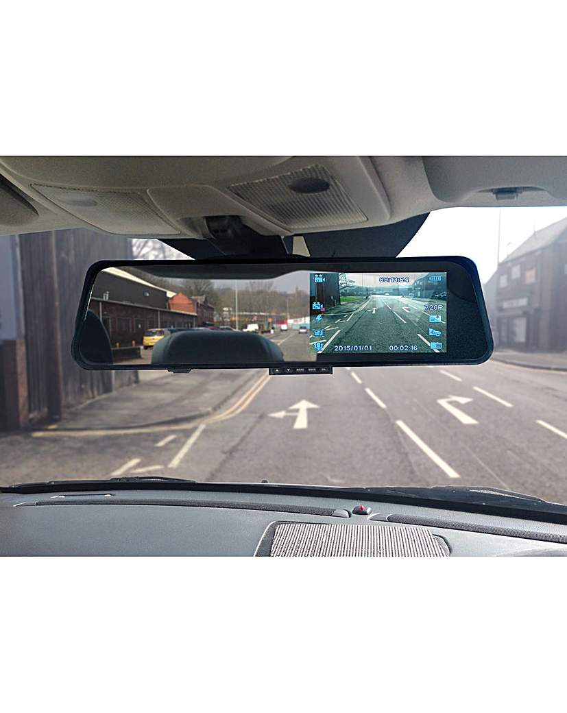 Image of Rearview Mirror Dash Cam 4.3in screen