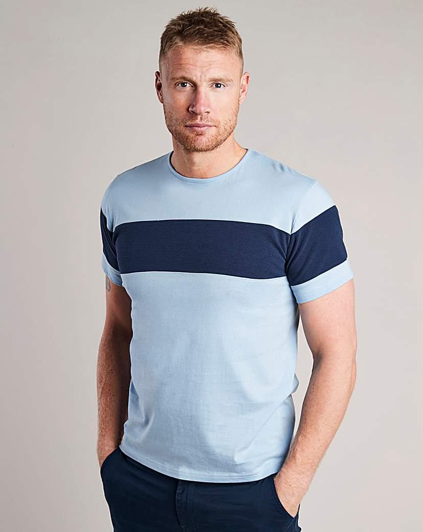 Flintoff By Jacamo Stripe T-Shirt L