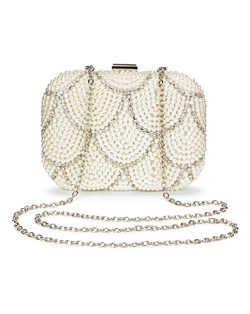 Joanna Hope Pearl and Diamante Clutch