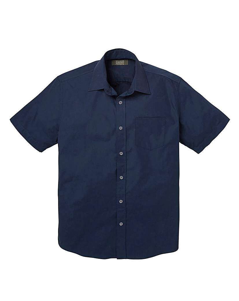 W&B London Navy S/S Formal Shirt R
