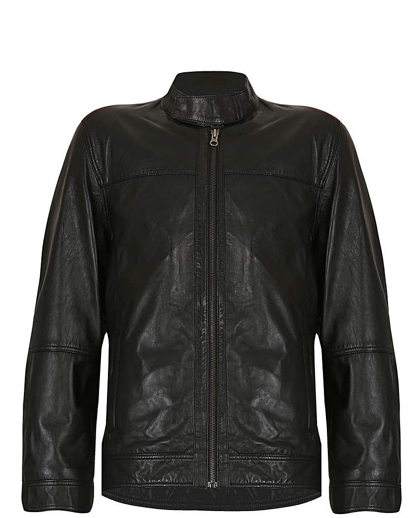Image of Barneys Originals Leather Harrington