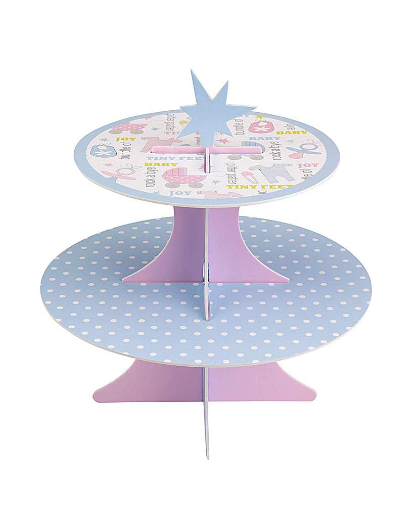 Image of Tiny Feet Baby Shower Cake Stand