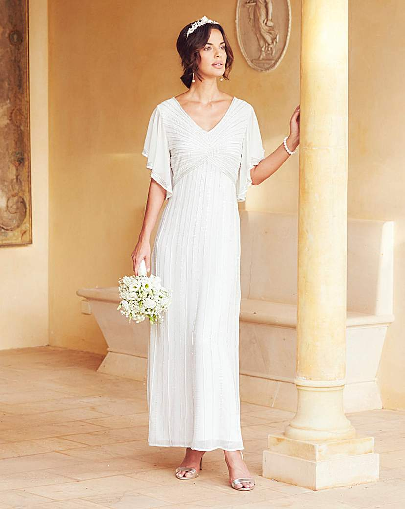 Vintage Inspired Wedding Dresses Joanna Hope Beaded Maxi Dress £165.00 AT vintagedancer.com