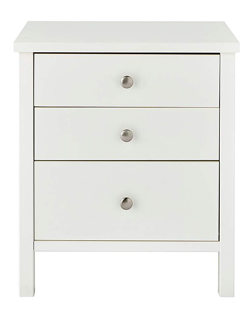 Newport 3 Drawer Bedside Table