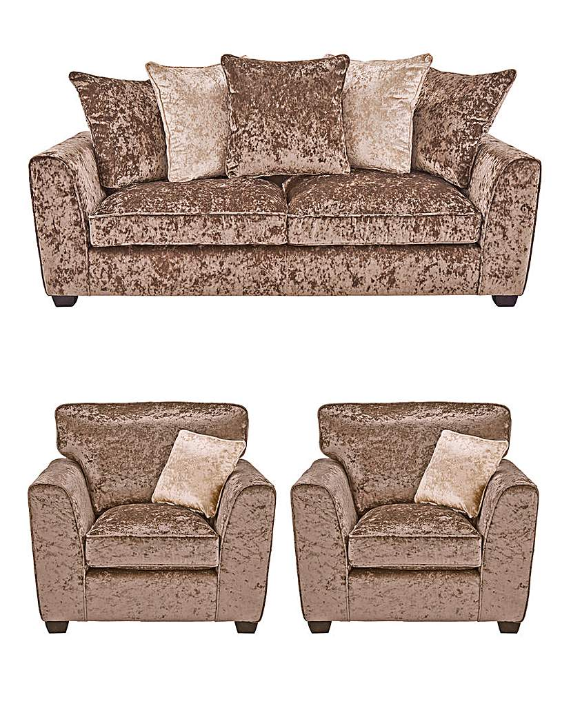 Image of Jewel 3 Seater Sofa and 2 Chairs