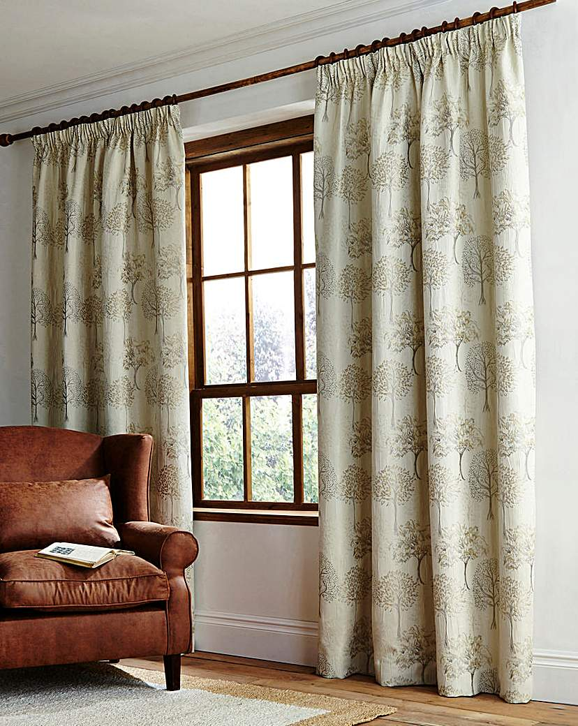 Image of Arden Pencil Pleat Lined Curtains