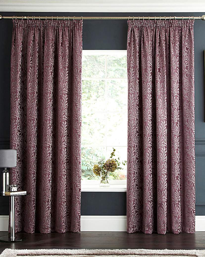 Lorenza Chenille Pencil Pleat Curtains