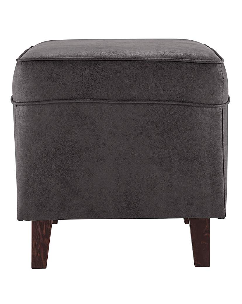Holmfirth Studded Wing Footstool