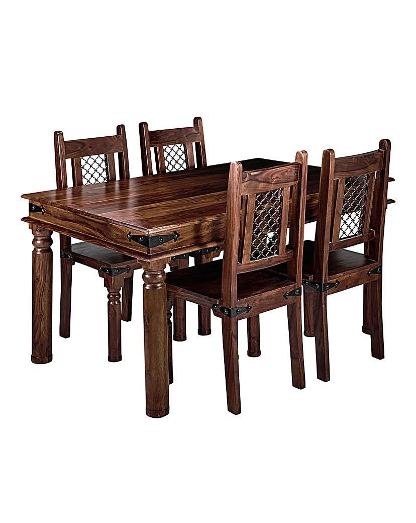 Jaipur Sheesham Dining Table & 4 Chairs