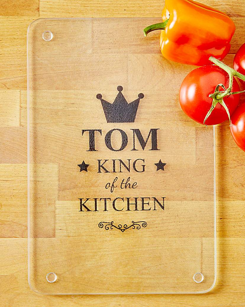 Image of Glass Chopping Board - Gents