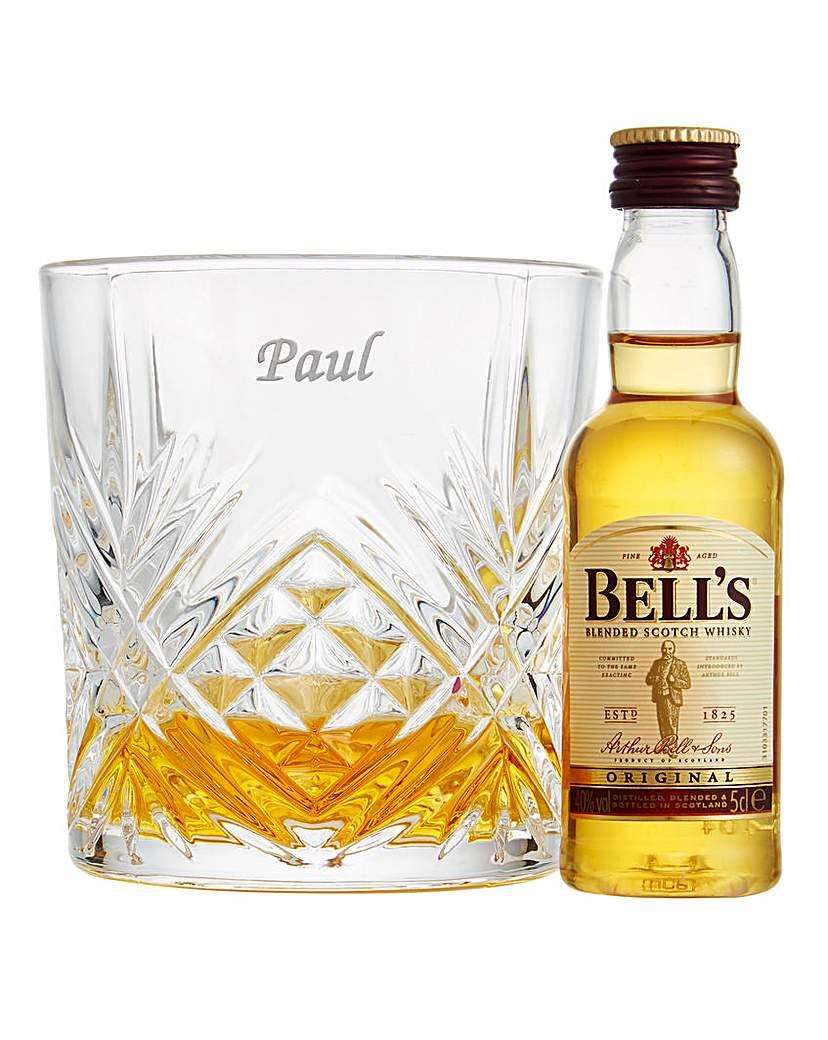 Cut Crystal Whisky Tumbler & Whisky