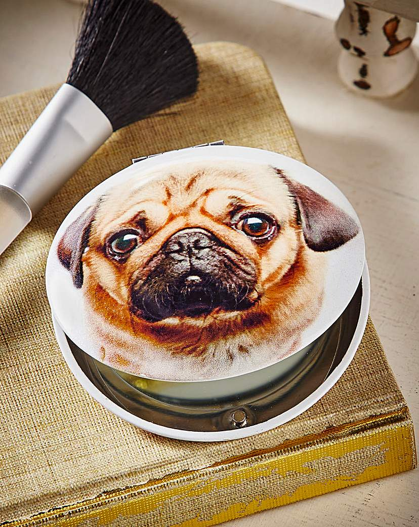 Image of Pug Compact Mirror