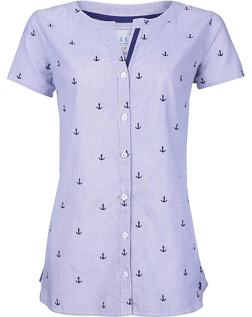 Brakeburn Anchor Stripe Shirt