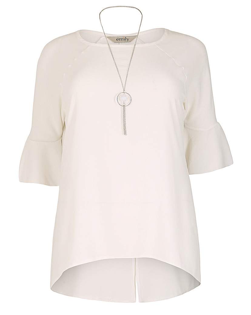 emily Bell Sleeve Necklace Top