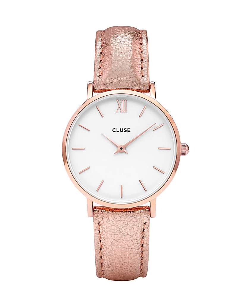 Image of CLUSE Ladies Minuit Leather Strap Watch