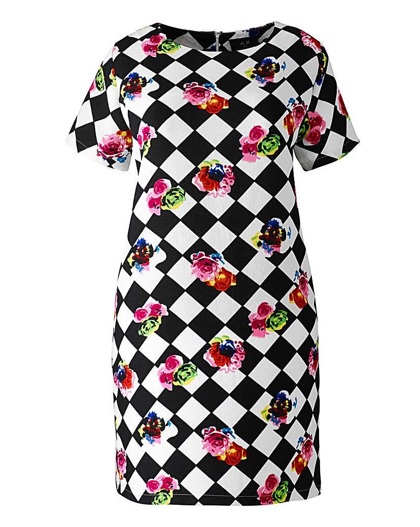 AX Paris Diamond Floral Shift Dress