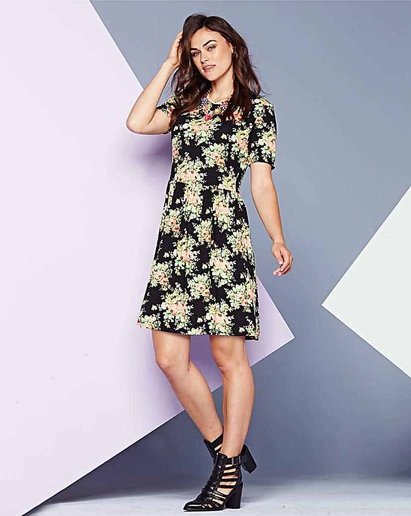 AX Paris Floral Print Jersey Dress.