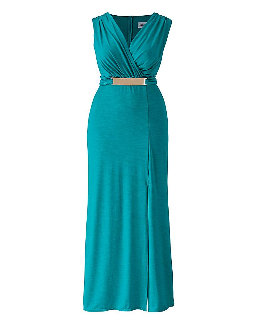 Lipstick Boutique Turquoise Maxi Dress