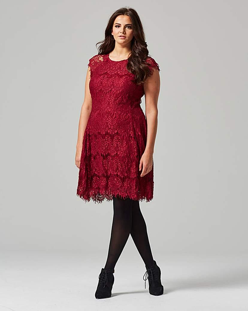 Ax Paris Wine Lace Dress