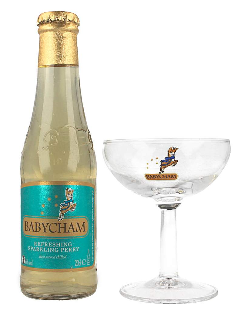 Image of Babycham and Glass