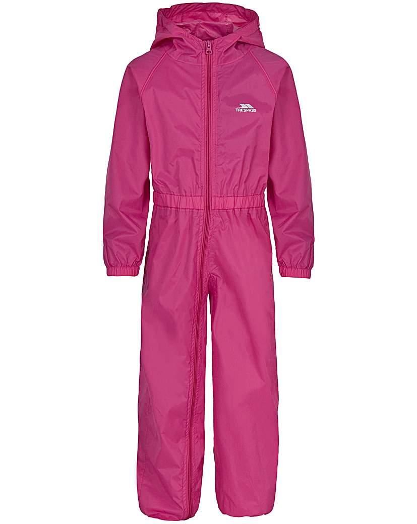Image of Trespass Button Babies Rain Suit