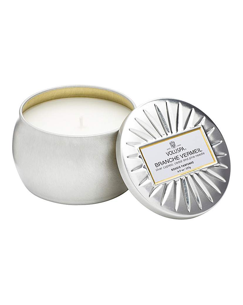 Voluspa Branche Vermeil 4oz Candle Tin