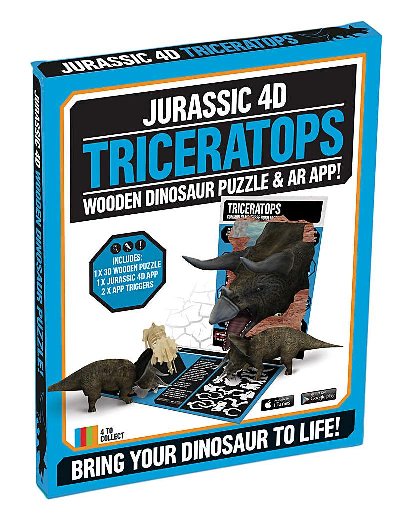 Triceratops 4D Wooden Jigsaw Puzzle