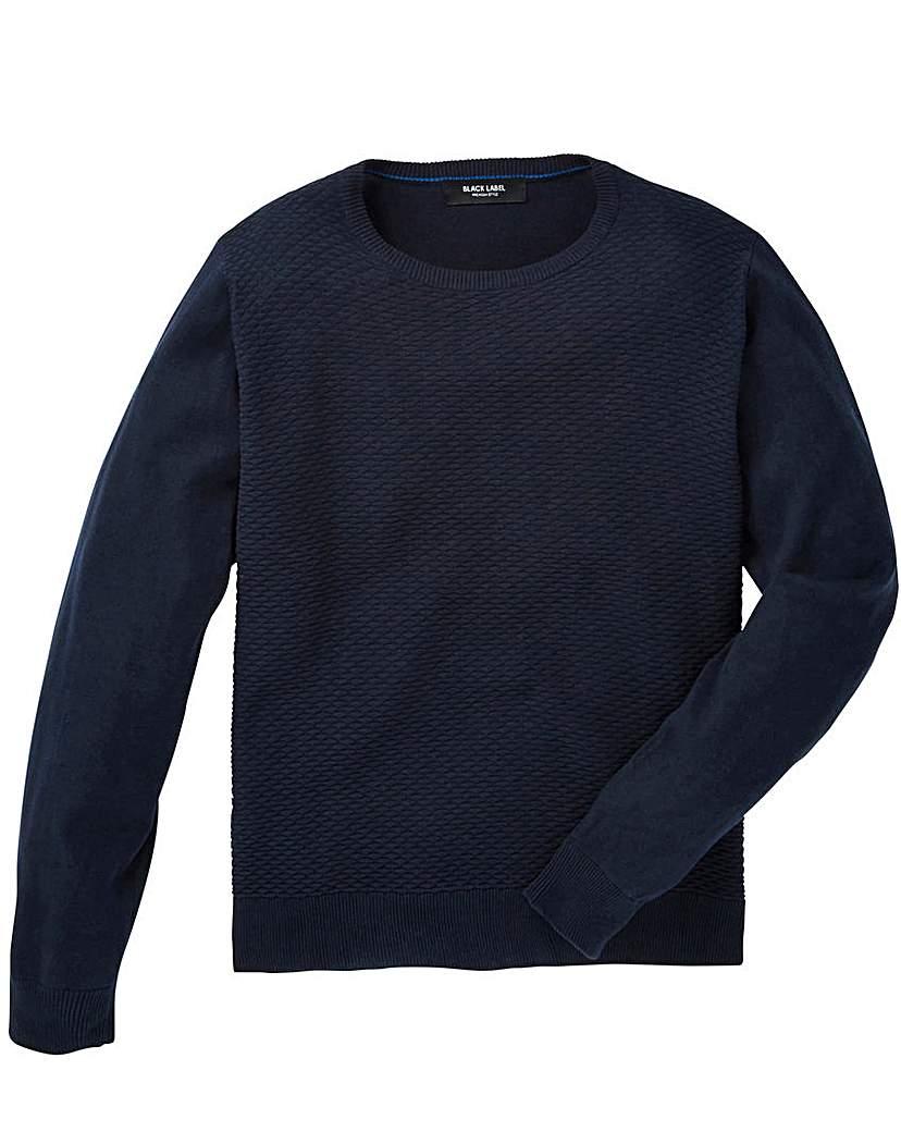 Black Label Texture Stitch Knit Long