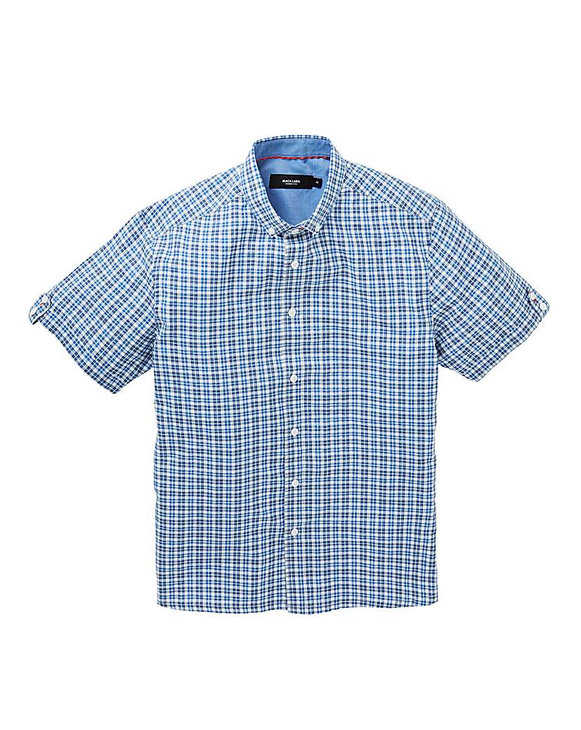 Image of Black Label Short Sleeve Check Shirt L