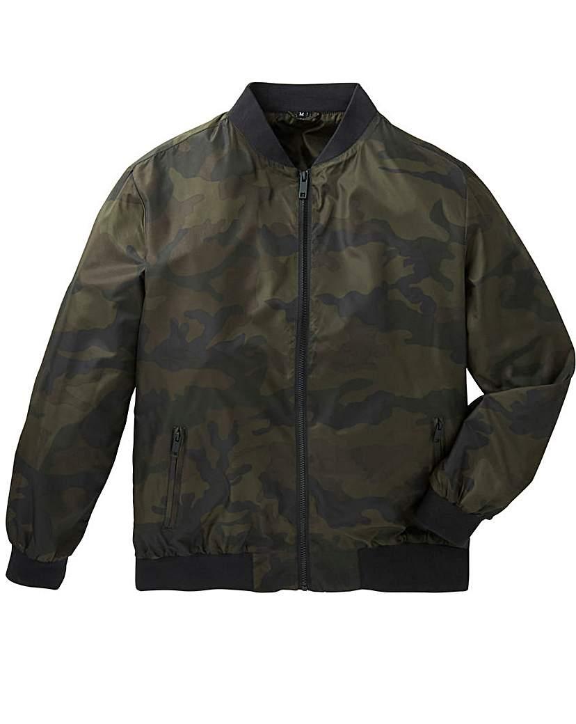 Label J Camo Print Bomber Jacket